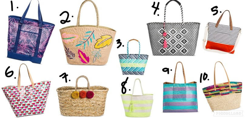 beach bag collage