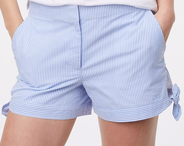side tie shorts closeup