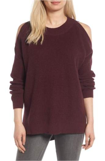 burgundy cold shoulder