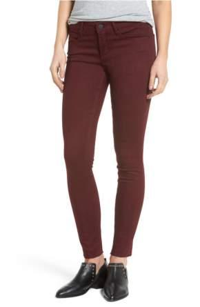 burgundy jeans