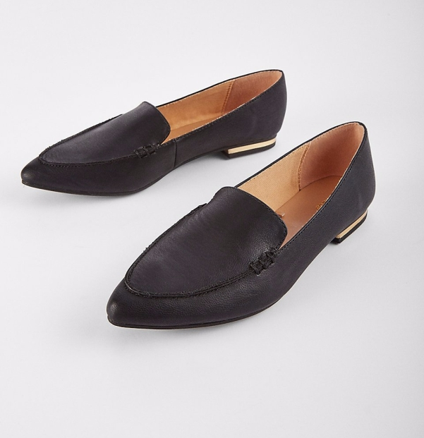 express - black loafers